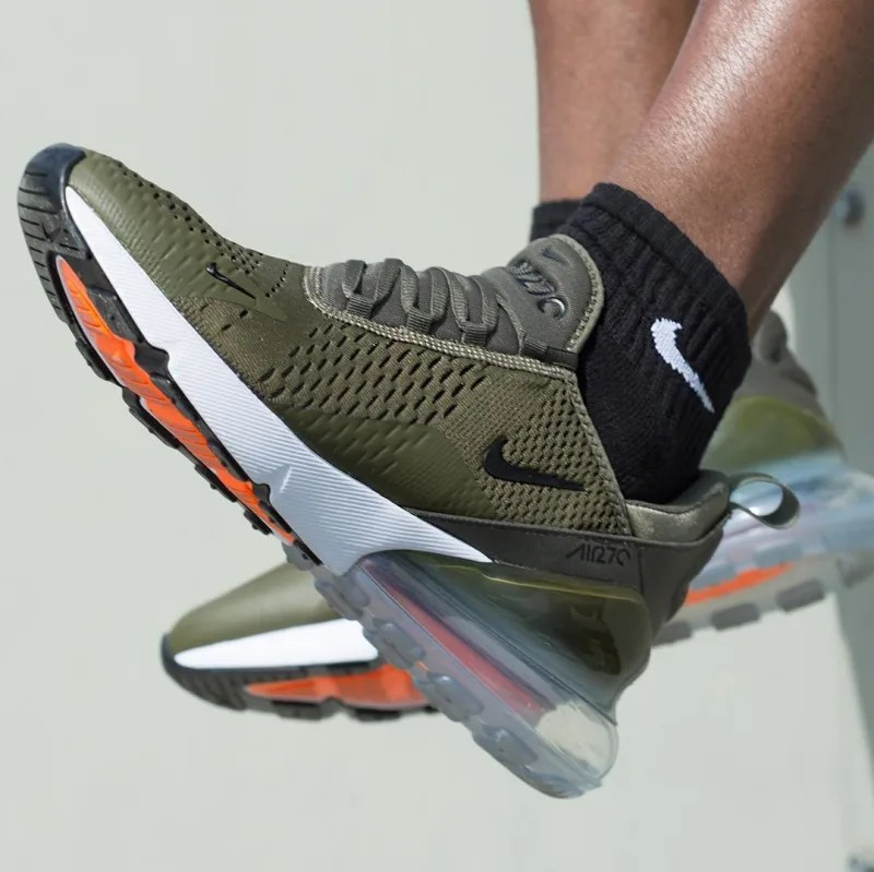 NIKE AIR MAX 270 Kie Ney AMAX 270 sneakers men AH8050 002 black [the 816 additional arrival]