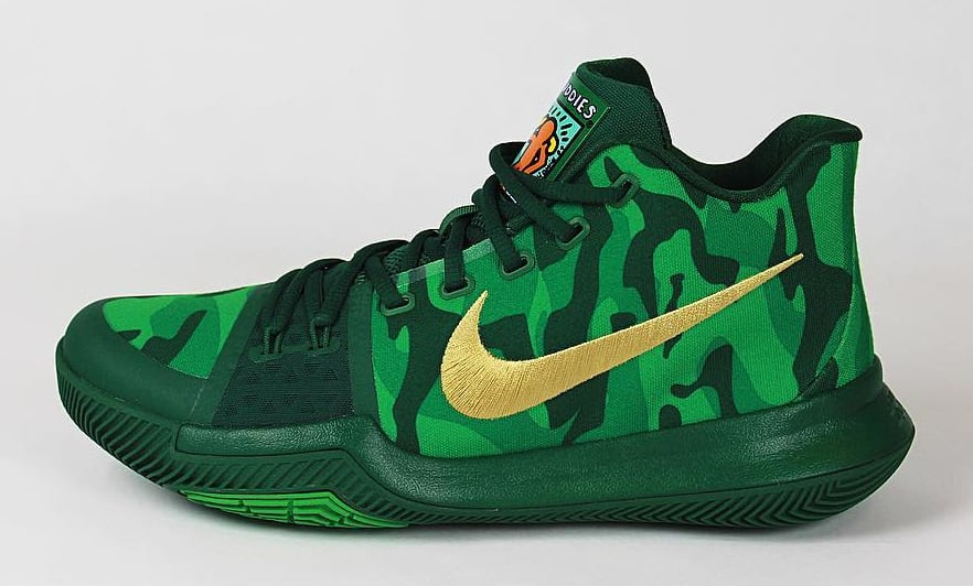 Kyrie Irving Nike Kyrie 3 Green Camo Best Buddies PE Sole Collector