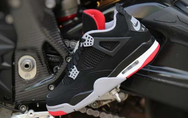 aa5aef4c77 Air Jordan 4 Retro 'black Cement Grey Summit White Fire Red' 308497-060