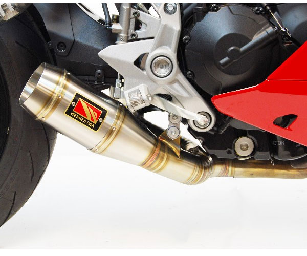 competition werkes gp slip on exhaust for supersport 17 19