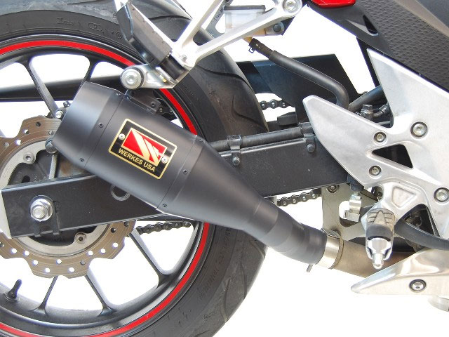 competition werkes gp slip on exhaust for cbr500r 13 15