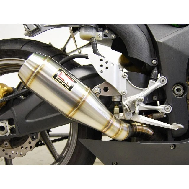 competition werkes gp slip on exhaust for zx6r 05 06