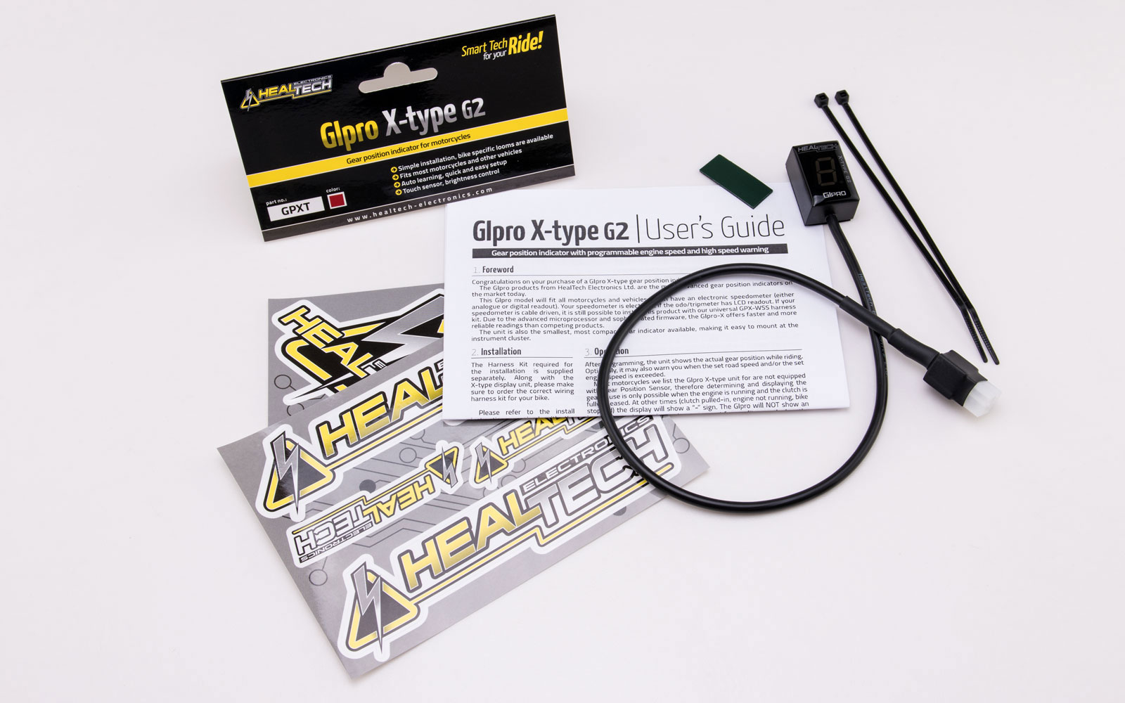 hight resolution of healtech gear indicator gipro x type g2 for zx9r 98 03