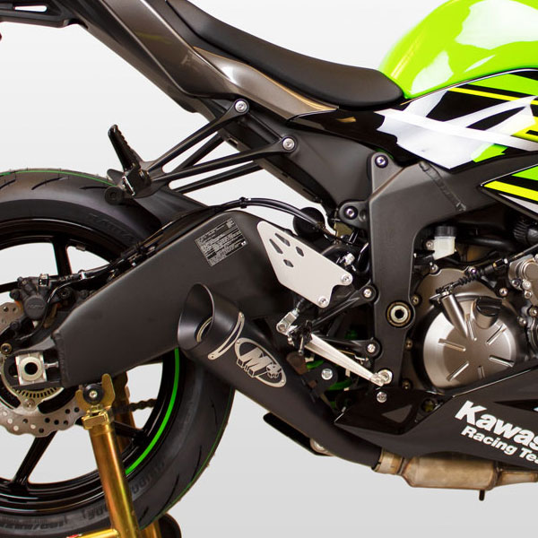 m4 gp series slip on exhaust for zx6r 09 19