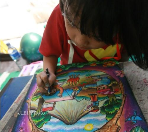 Menggambar Merapi, Anak-anak Kini Lebih Kreatif