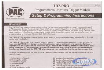 pioneer tr7 wiring subaru impreza ecu diagram pac pro tr7pro programmable universal trigger module product name