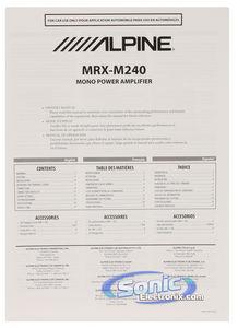 Alpine MRX-M240 Monoblock X-Power Class-D Car Amplifier