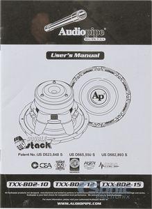 2 4 ohm dual voice coil wiring diagram rover 75 towbar audiopipe txx bd2 15 txxbd215 1800w bd series zoom