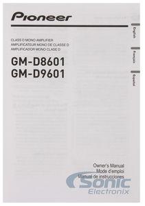 Pioneer GM-D9601 GM Digital 1200W Class-D Monoblock Amplifier