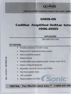 Axxess GMOS 06 Gmos06 GM Databus Specialty Harness Adapter For