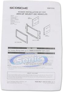Scosche GM1595B Double DIN Installation Dash Kit for