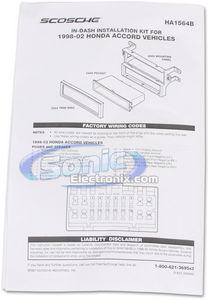 Scosche HA1564B Single DIN Installation Dash Kit for 1998-2002