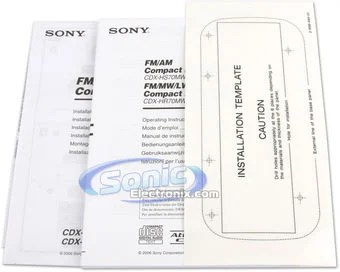 Sony CDX-HS70MS (cdxhs70ms) Marine CD/MP3/WMA/ATRAC Receiver