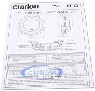 Clarion WF2510 (WF25-10) 10