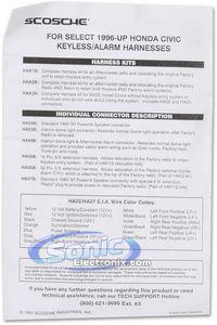 Scosche HA06B 32-pin Alarm Relocation Harness for 1996