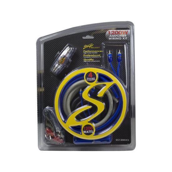 Deals Stinger Hpm 4 Gauge Amplifier Wiring Kit W Rca Cables This