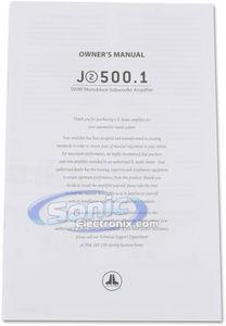 Combo: JL Audio J2 500.1 Car Amplifier with (2) 12WX4 Subs