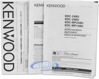 Kenwood KDC-248U (KDC248U) CD, MP3 Car Stereo w/ Front AUX