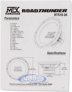MTX Audio RTS10-04 10