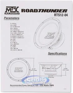 MTX Audio RTS12-04 12