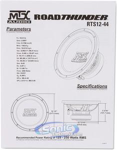 MTX Audio RTS12-44 12