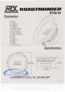 MTX Audio RTS8-04 (RTS804) 8