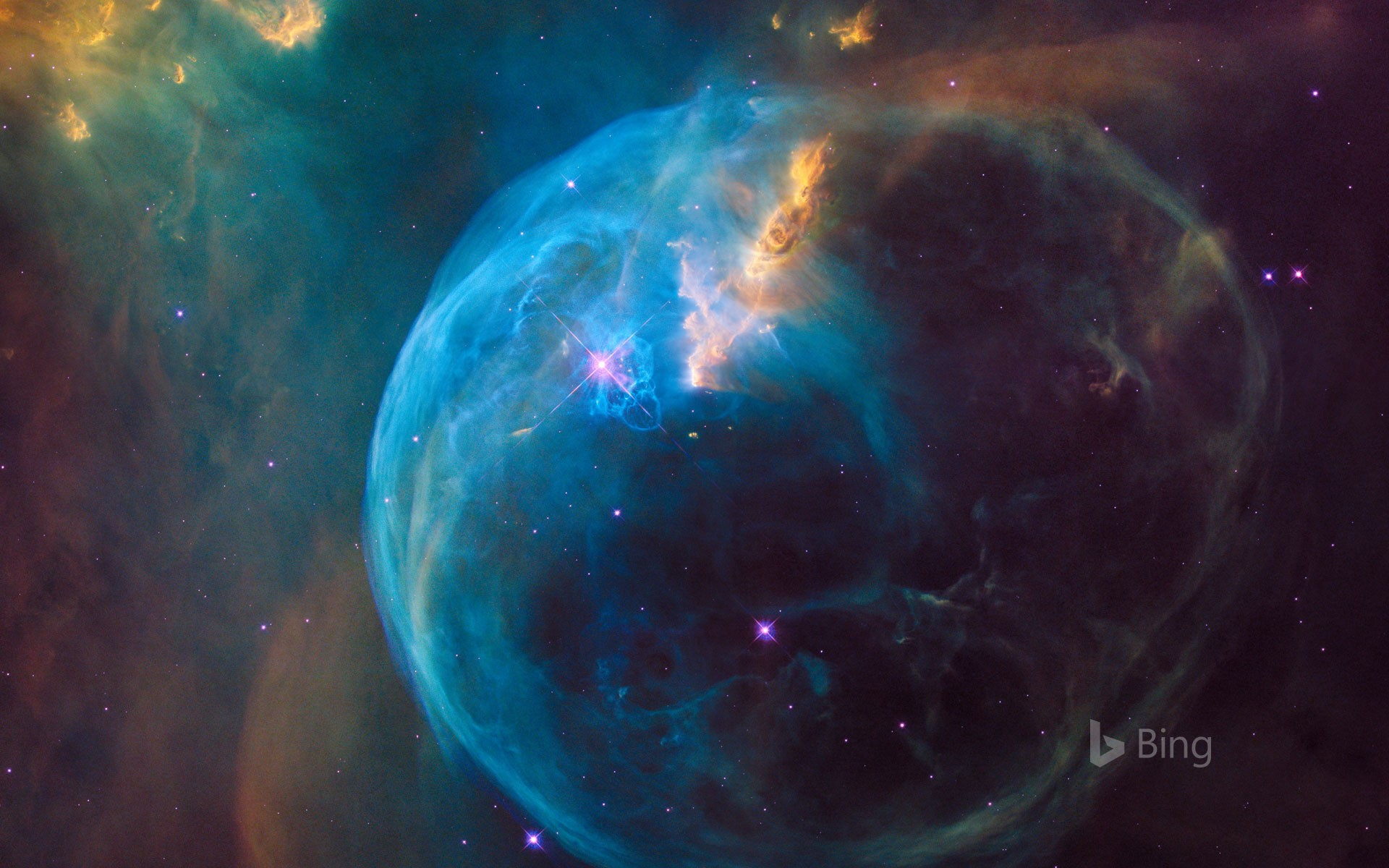 Bubble Nebula Bing Wallpapers Sonu Rai