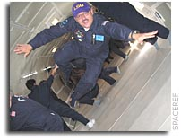 Keith Cowing floats in the Zero G airplane.  Click for story.