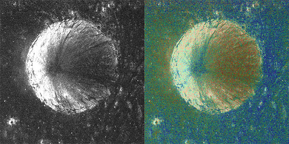 Same Sense radar (left) and colorized CPR (right).