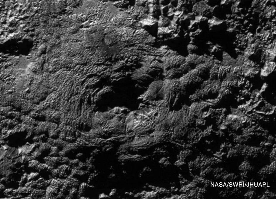 Pluto, Evidence of Possible Frozen Volcanoes