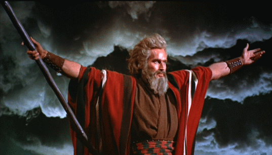 Heston as Moses