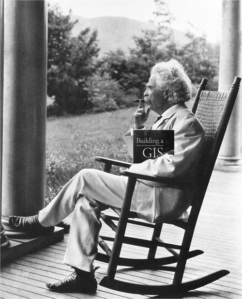 Even Mark Twain is interested in reading Dave Peters new book