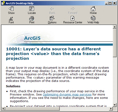 ArcGIS Server documentation helps figure out how to fix problems.