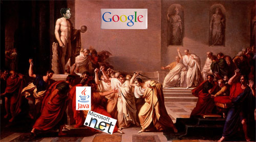 The killing of .NET and Java on the web continues unabated