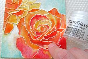 Distress Watercolor Dry Embossing Tutorial