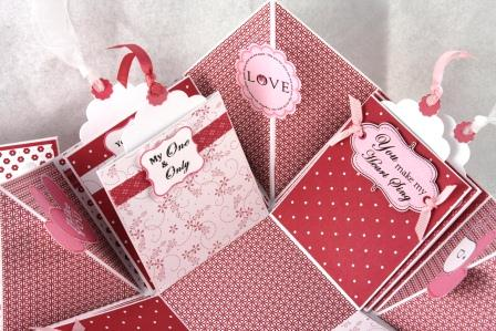LOVE Valentine Explosion Box By Dianebeckman At