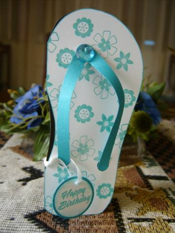 Flip Flop Card By Genescrapper At Splitcoaststampers
