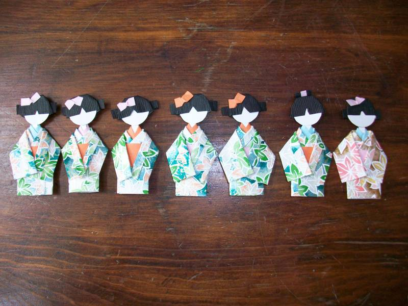 Origami Geisha Dolls by StampinGoodDeeds  at Splitcoaststampers