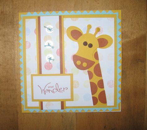 Punch Art Giraffe Baby Card By Carolynn At