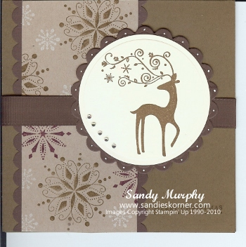 Dasher By Stampin Up By Sandy Murphy At Splitcoaststampers