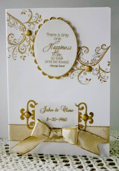 50th Wedding Anniversary Card By Holstein At
