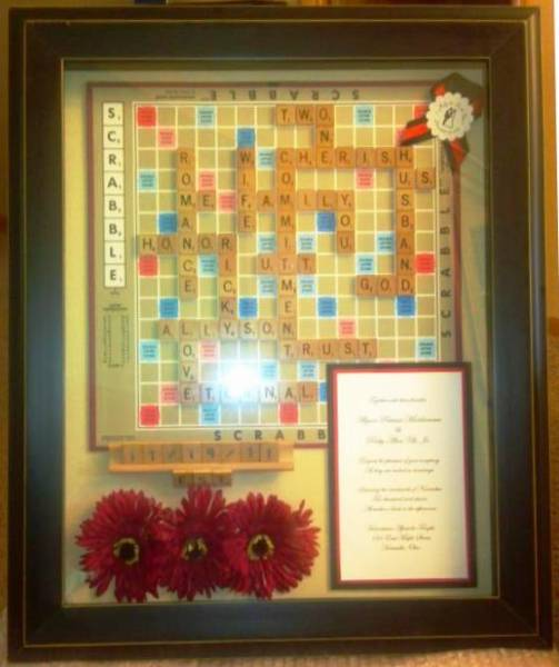 Scrabble Board Shadow Box  For Rick  Ally by kbusson  at Splitcoaststampers