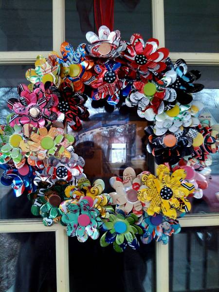 Soda Can Flower Wreath By Sjreeke At Splitcoaststampers