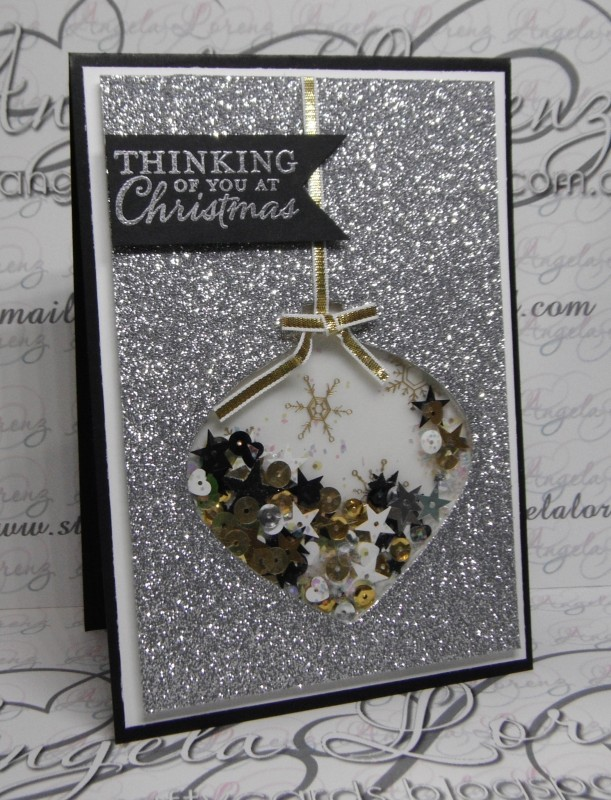 Christmas Card Delicate Ornaments Embellished Ornaments