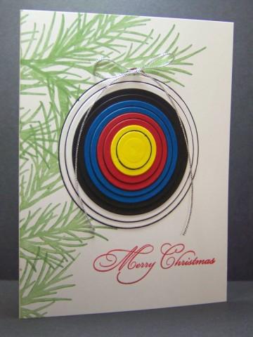 Archery Christmas Card By McStamper At Splitcoaststampers