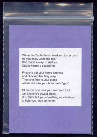Tooth Fairy Poem by MaggieMay  at Splitcoaststampers