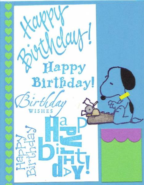 Snoopy's Birthday Wishes By Penny Strawberry At