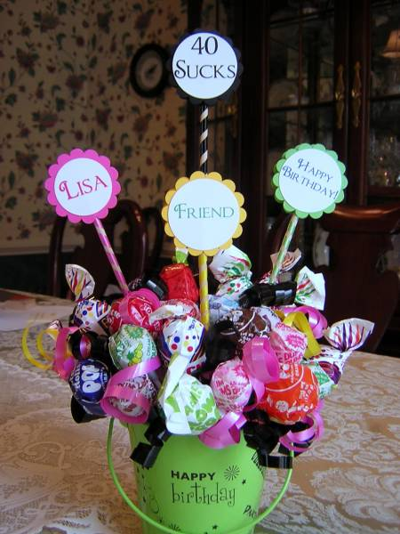 40 Sucks Lollipop Bouquet By Nancystamps At
