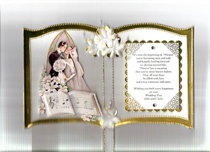Gold Bookatrix Wedding Card By SnoflakeUK At