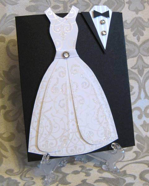 Wedding Dress Card by lpratt  at Splitcoaststampers